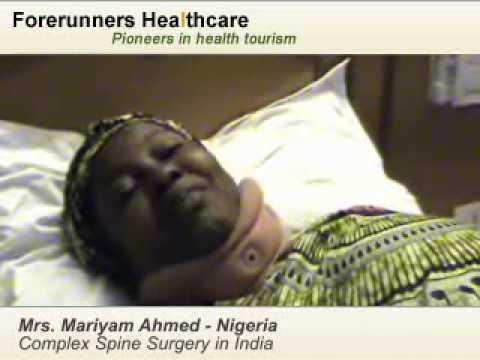 Mrs Mariyam Ahmed - Laser spine surgery India
