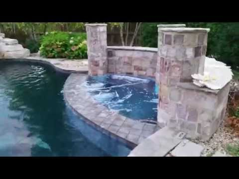 Barrington Pools built Resort Style Backyard Oasis