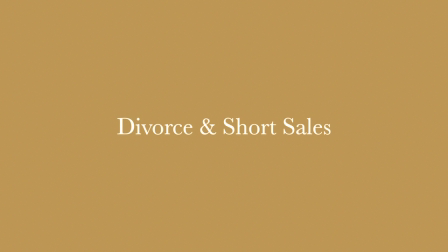 Divorce and the short sale - Video