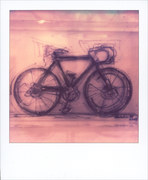 questa non è una bicicletta ma una scultura di vetro soffiato