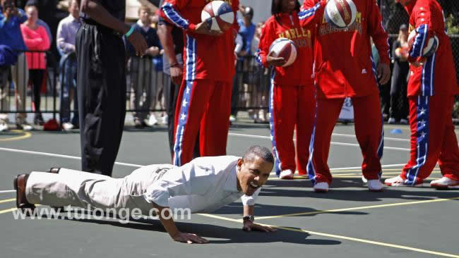 Obama akipiga tizi