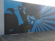 David Flores' Basquiat Mural in Culver City