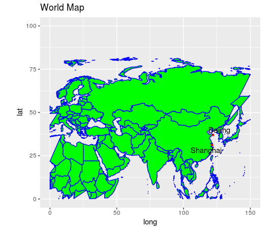 Creating maps in R using ggplot2 and maps libraries - Data