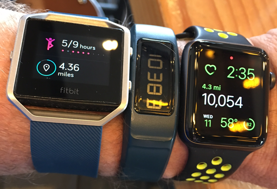 d851ecd2a37 For Christmas I wanted a Nike Apple Watch to go with my existing FitBit and  Garmin fitness trackers (I look sort of like a cyborg in the photo  below…which ...