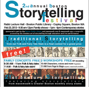 2nd Annual Boston Storytelling Festival - FREE
