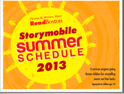 ReadBoston /Storymobile Schedule for Summer 2013