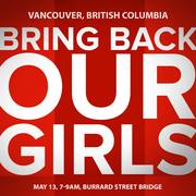 Bring Back Our Girls - Burrard Street Bridge, Vancouver