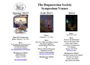 25th Daguerreian Society Symposium