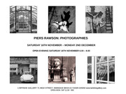 exhibition: PHOTOGRAPHIES by Piers Rawson