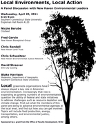 """Panel: """"Local Environments, Local Action"""""""