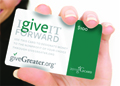 Introducing giveGreater cards & gift incentive