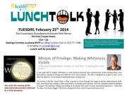 """LunchTALK! - """"Mirrors of Privilege: Making Whiteness Visible"""""""