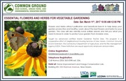 Winter Garden Workshops - Essential Flowers & Herbs for Vegetable Gardening!