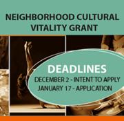 Neighborhood Cultural Vitality Grant