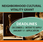 Neighborhood Cultural Vitality Grant