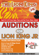 Casting Call Auditions for Lion King Jr