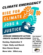 Rally for Cimate, Justice, Jobs