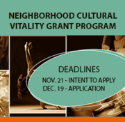 Information Session: Neighborhood Cultural Vitality Grant