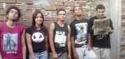 from left to right: Fonseca, Ju, Tiagão, me and Michael!