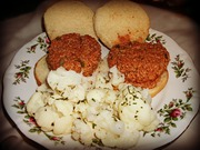 Vegan Sloppy Joes and Steamed Cauliflower