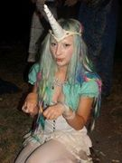 dressed as a unicorn at a fancy dress party