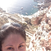 me at oia castle