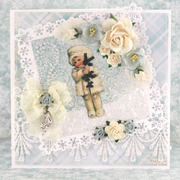 """Winter card made with """"Frozen Paper"""" from Craft & You Design!! :)"""