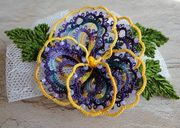 Pansy hair clip