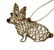 Corgi in wire