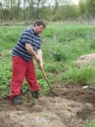Alan digging