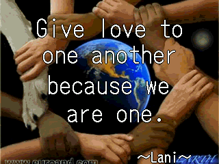 give love to oneanother