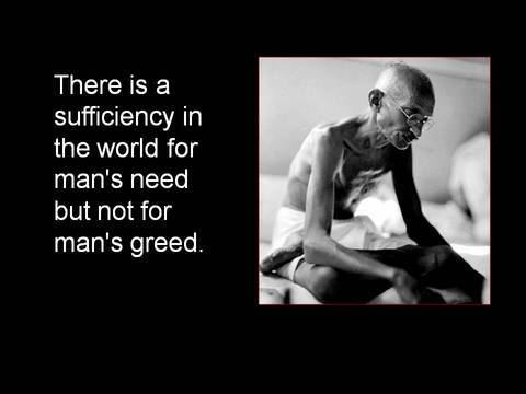 Gandhi on greed