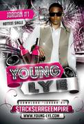 YOUNG LYE HOT HIT SINGLE ''JORDAN #1''   PROMO FLYER