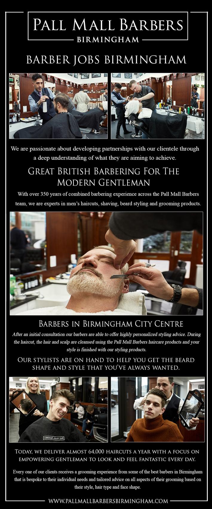 Barber Jobs Birmingham   Call 01217941693   pallmallbarbersbirmingham.com