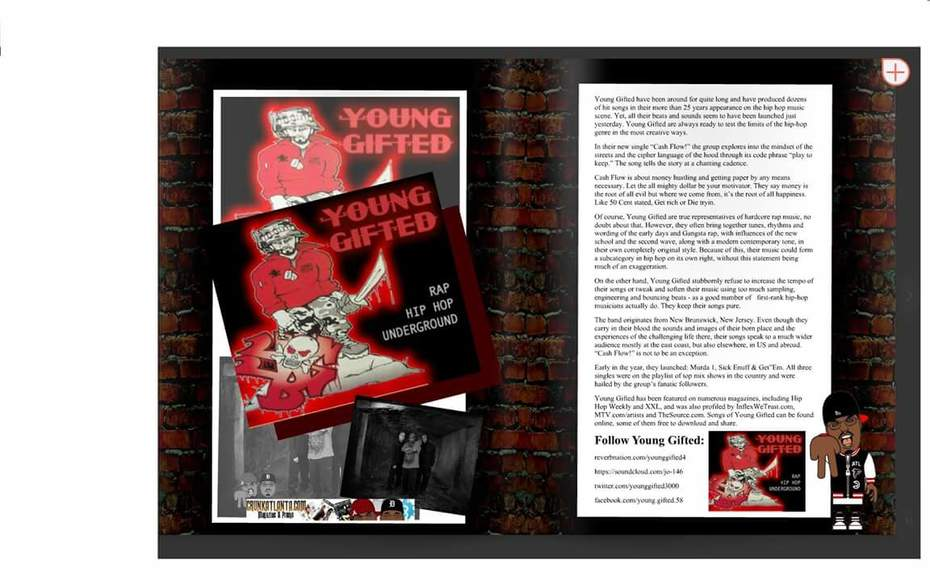 CrankAtlanta Magazine Featuring Young Gifted