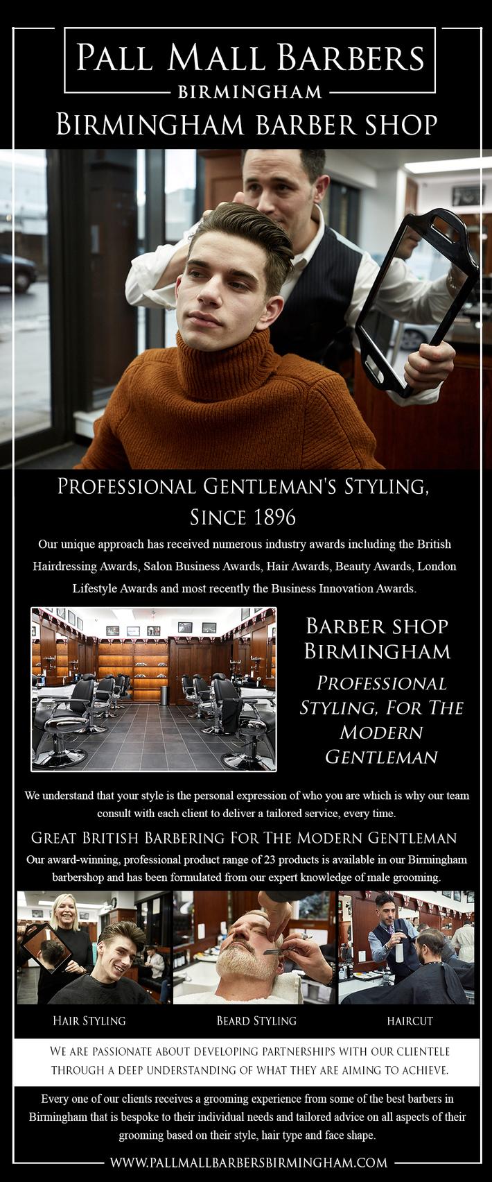 Birmingham Barber Shop | Call 01217941693 | pallmallbarbersbirmingham.com