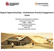 Degree Apprenticeships: Architecture Practice Engagement Event at DMU