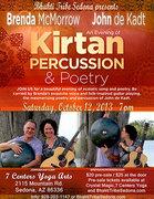 Kirtan Percussion & Poetry with Brenda McMorrow & John de Kadt