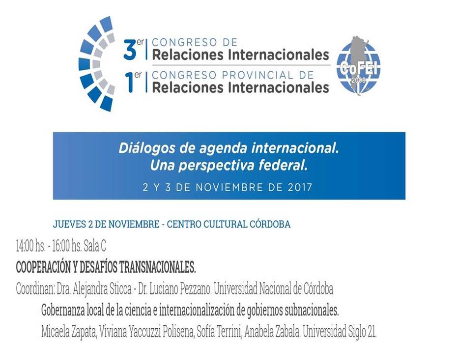 Gobernanza Local de la Ciencia e Internalización de Gobiernos Subnacionales
