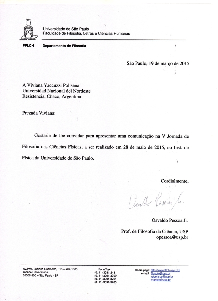 INVITACION DE LA UNIVERSIDAD DE SAN PABLO