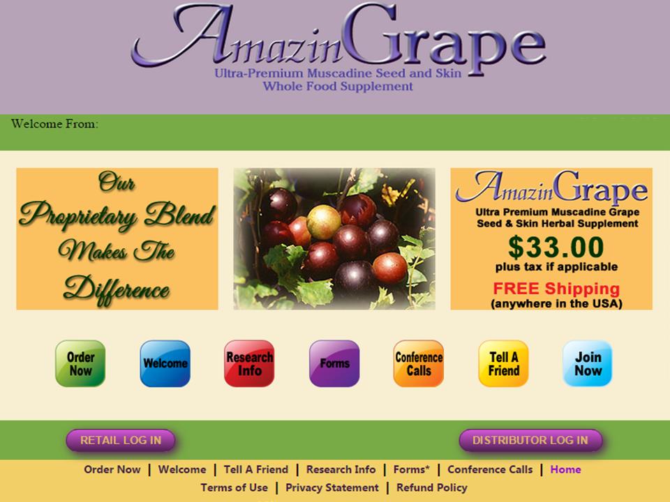 AmazinGrape Website
