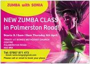Zumba Thursday mornings 9.15am-10am