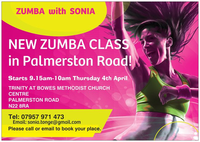 Zumba Thursday mornings 9.15am-10am