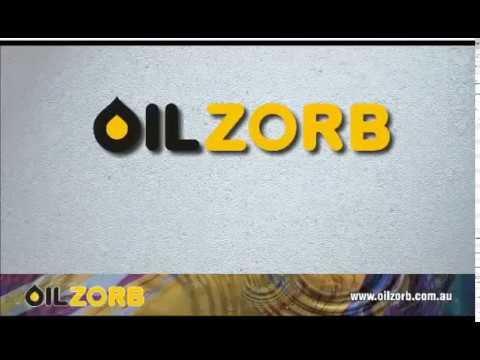 The Best Oil Recovery Absorbent in the World | Oilzorb demo absorbs oil on Water Surface