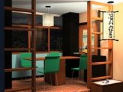 Vista mueble rebatible 4 sillas noche