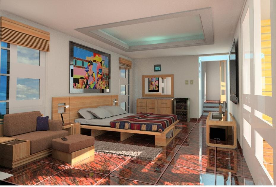 dormitorio casa plana