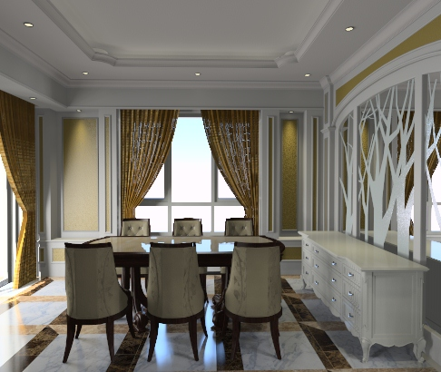 01dining room with classic style