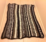 Knitted Afghan blanket by Shirly Nash