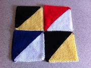 October theme - Half-and-Half Diagonals in Garter