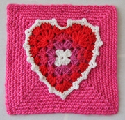 February Challenge, Hearts and Red White and Pink